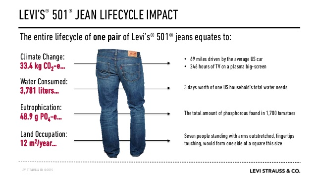 Figure 4 The impact of a Levi's Jeans – Source Levi's (2015)